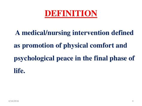 Comfort Care Definition by Care Of Dying Patient