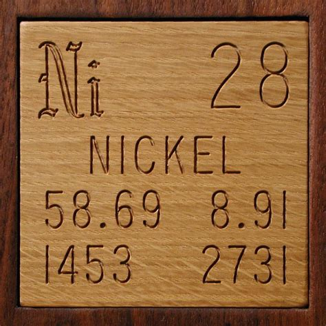 Periodic Table Nickel by Technical Data For The Element Nickel In The Periodic Table