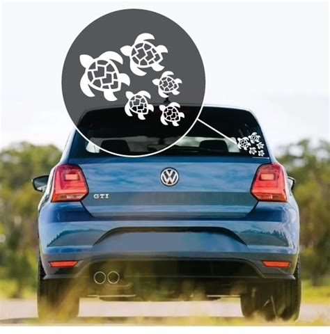 Turtle Family Car Stickers turtle sticker turtles family decal custom sticker shop