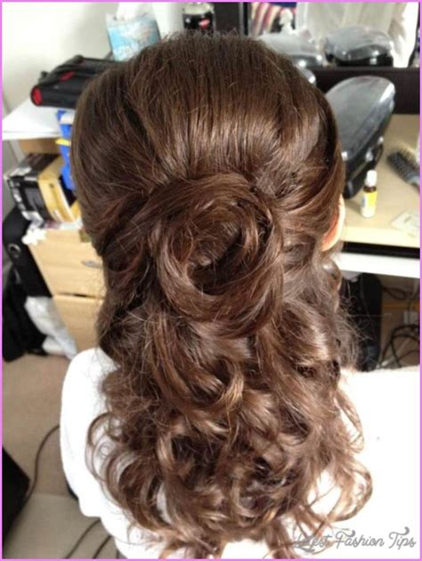 bridal hairstyles half up medium length latestfashiontips