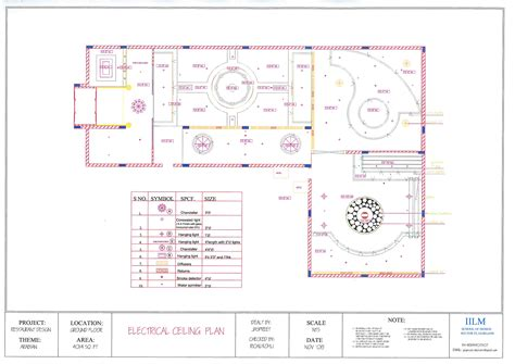 electrical layout plan of a restaurant design project restaurant cum bar design by jaspreet kaur