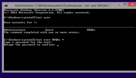 windows reset password command line how to reset windows 8 password