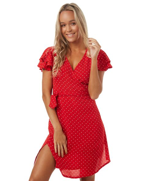 St Polka helena womens wrap dress polka surfstitch