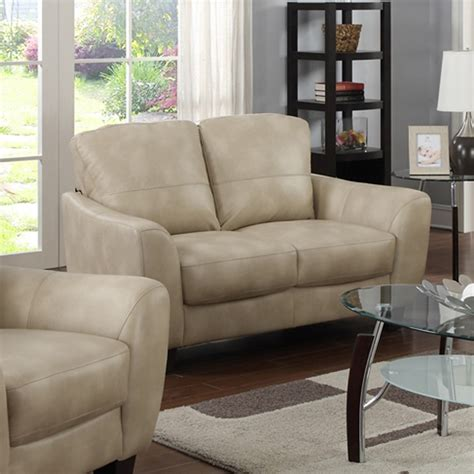 Bonded Leather Sofa Set Fremont 3 Pieces Sofa Set Bonded Leather Taupe Dcg Stores
