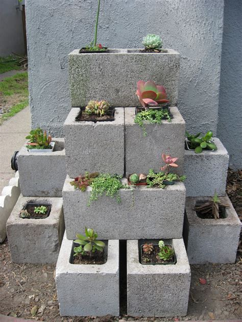 cinder block planters on bike todays garden project cinder block succulent planter