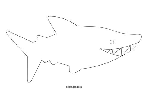 shark template coloring page