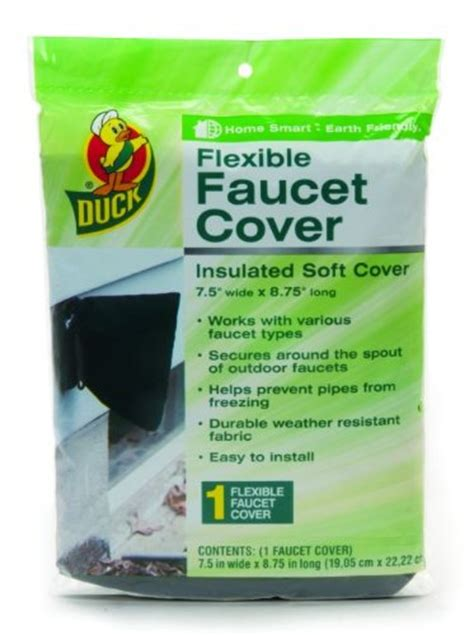 Faucet Freeze Protectors by Duck Brand 280462 Insulated Soft Faucet Cover For