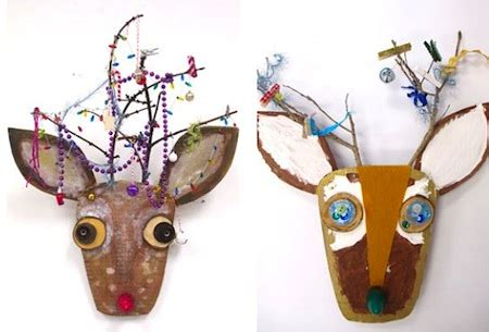 large christmas art projects cardboard reindeer things to make and do crafts and activities for the crafty