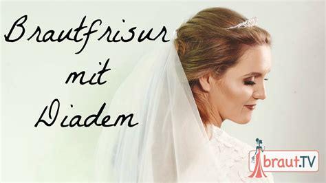 Hochzeitsfrisuren Mit Schleier Halboffen by Brautfrisur Halboffen Mit Schleier Und Diadem