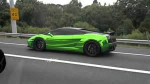 shiny neon green lamborghini