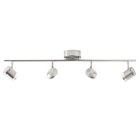 style selections led light shop style selections leyden 4 light 29 76 in brushed