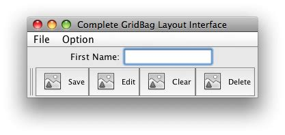 java layout toolbar java grid bag layout with toolbar and menubar stack