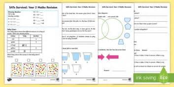 Sats Revision Homework Sheets sats survival year 2 maths revision worksheet activity