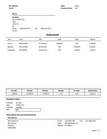 customer statement template