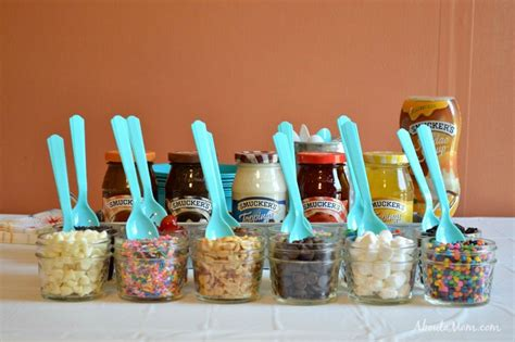 build your own sundae bar about a