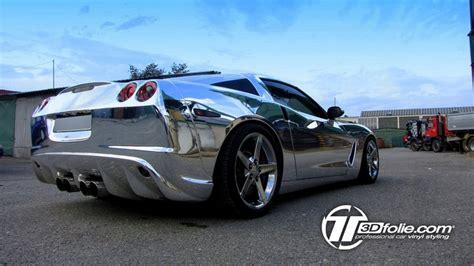 corvette gets a chrome wrap by tuner corvette