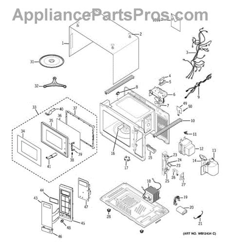 ge microwave parts diagram parts for ge je520bw005 microwave parts