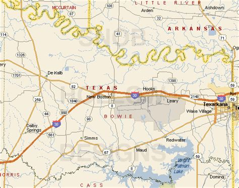 where is bowie on a map bowie county color map