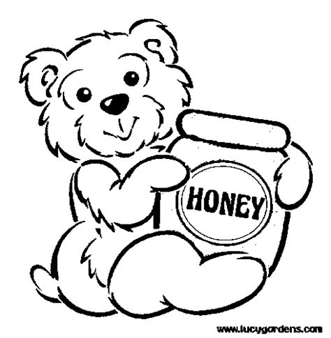 white bear coloring pages honey black and white pictures for kids cliparts co