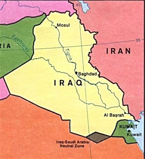 kuwait iraq map iraq s borders were sealed liberate this part 12