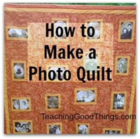 how to make a coverlet memory quilt with pictures of my family for our reunion