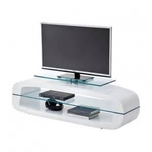Meuble Blanc Laque Tv #1: meuble-tv-design-blanc-laque-avec-plateaux-verre-laurel-150-cm.jpg