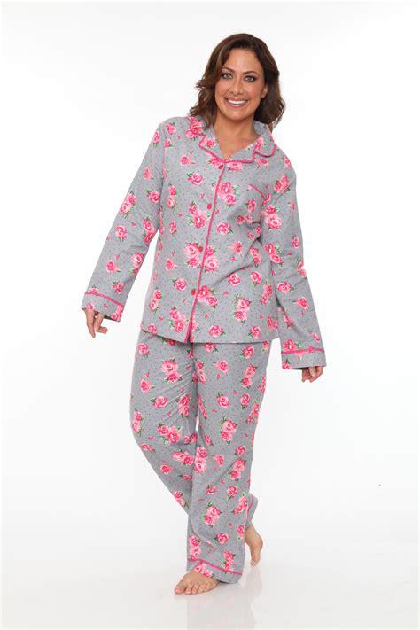 Pajamas Pp by White S Plus Flannel Pajama Set