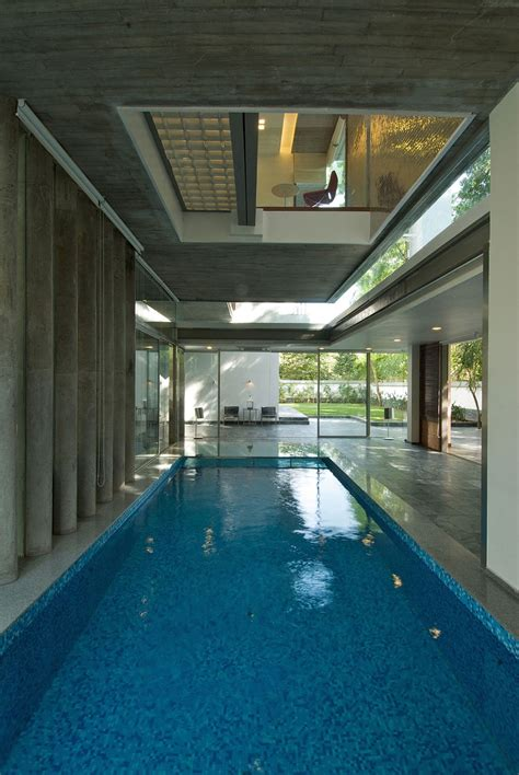 home designs with indoor pools home designs with courtyard indoor pool glass walls poona house in mumbai india by