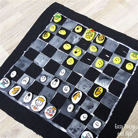 diy chess set diy chess board game easy peasy and fun