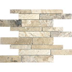 travertine wall shop anatolia tile pablo linear mosaic travertine wall