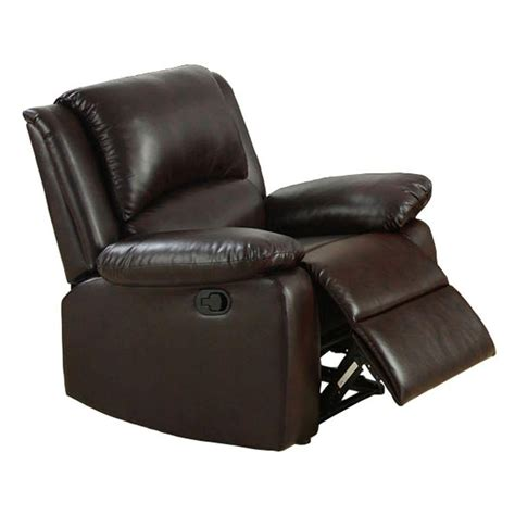 Oxford Recliner by Furniture Of America Oxford Rustic Brown Leatherette
