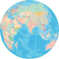 maps for globe continent of asia maps and pictures