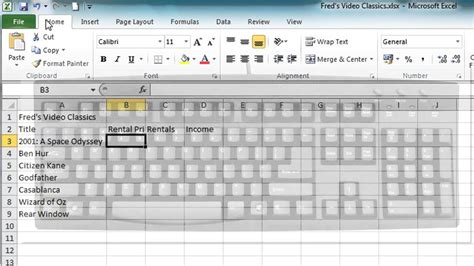 excel tutorial 2010 video free excel 2010 tutorial for beginners 2 enter edit text
