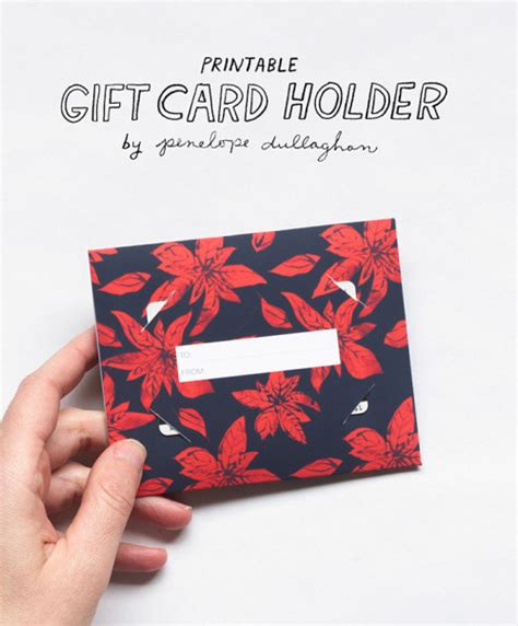 Holiday Gift Card Holders Printable - printable freebie holiday gift card holder interior design