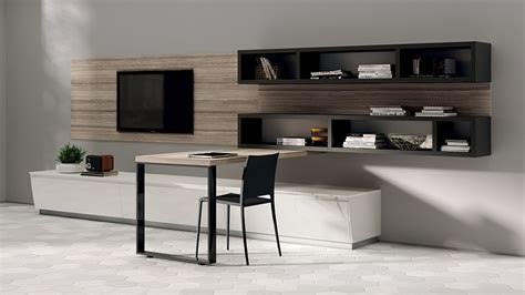 desk in the living room flux swing dynamic living room compositions with modular ease