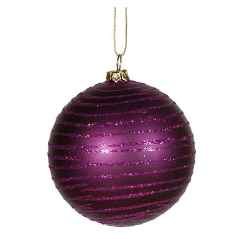 plum colored christmas balls vickerman 396506 purple colored tree ornament
