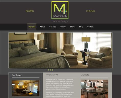 interior designer websites ecommerce nfr websites