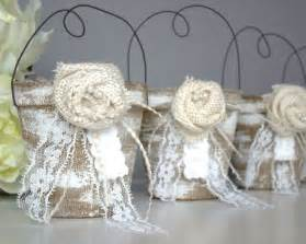 rustic wedding favor bag container country vintage