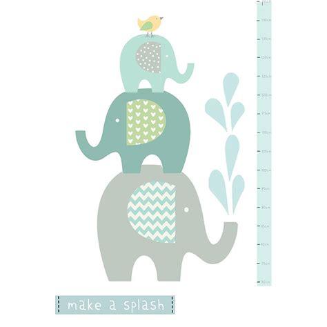 elephant wall sticker elephant height chart fabric wall sticker by littleprints