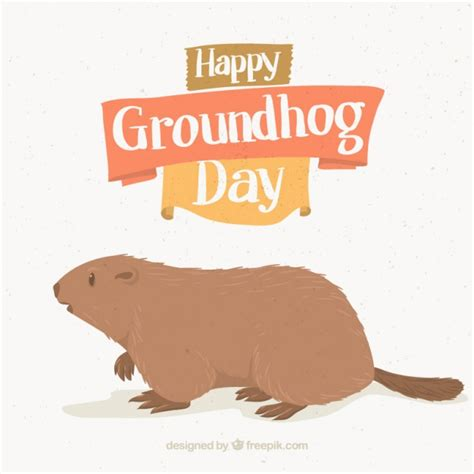 groundhog day free background with groundhog day illustration vector free