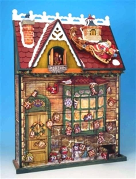 wooden musical advent calendar