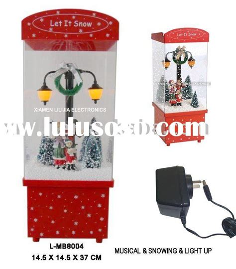 snowing christmas decoration musical christmas lights