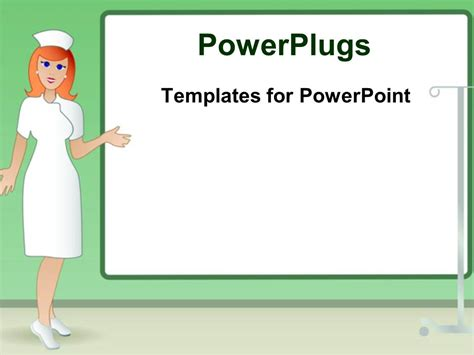 ppt themes nursing powerpoint template a crtoon character of a nurse in a