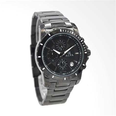 0234a0r Jam Tangan Putih Hitam jual alfa stainless steel jam tangan pria hitam jarum