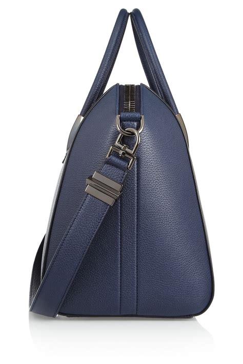 Givenchy Antigona Pouch Blue 1801145 givenchy medium antigona bag in navy leather in blue lyst