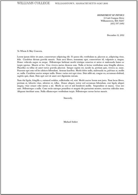 cover letter to whom it may concern sle to whom it may concern letter format word best template