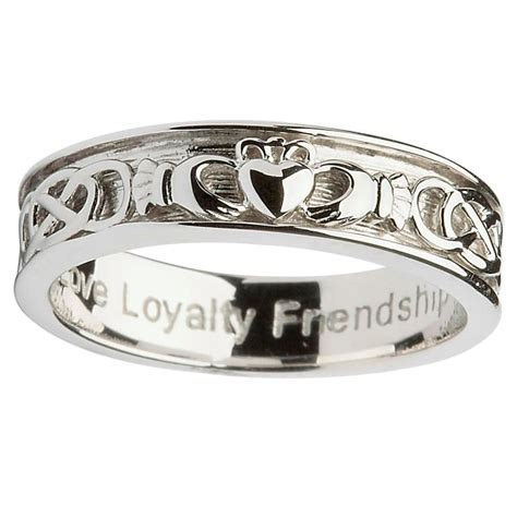 sterling silver gents claddagh celtic ring