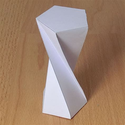 Origami Rectangular Prism - prisma pentagonal torcido b origami