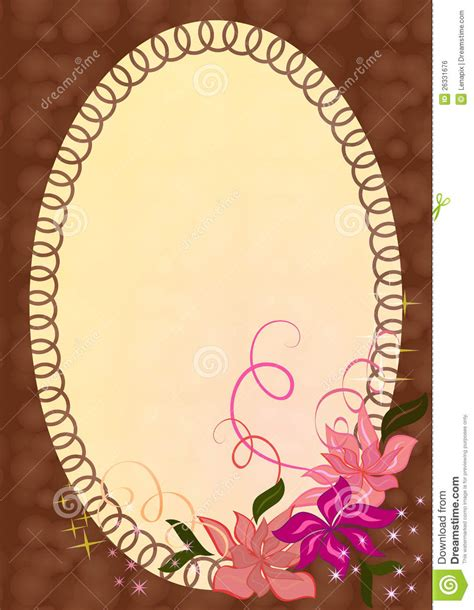 Ornament Photo Frame - photo frame with ornament royalty free stock image