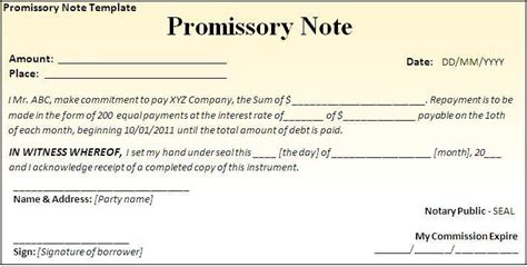 promissory note california template ch8 reporting and analyzing receivables accounting 201a